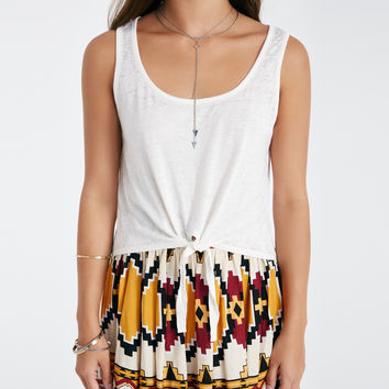 Tie Front Burnout Crop Tank | Wet Seal