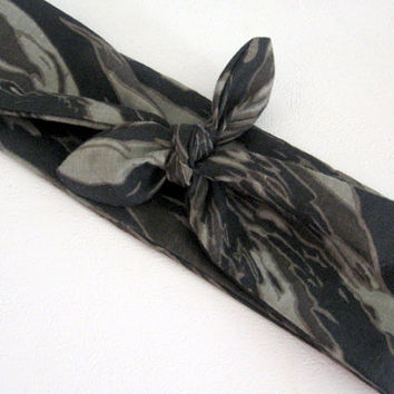 Hair Bandana, Knotted Hairband, Pin Up Headband, Rockabilly Hairband, Camouflage Hair Band, Trending, Boho Headband, Hippie,Women n Teens