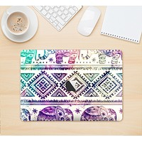"The Tie-Dyed Aztec Elephant Pattern Skin Kit for the 12"" Apple MacBook"
