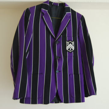 Vintage Blazer or Boating Jacket Purple and Black by ThePirates