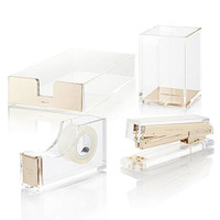 kate spade new york Clear Acrylic Desk Set