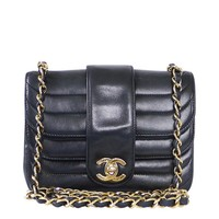 Chanel Black Lambskin Mini Classic Bag Rare
