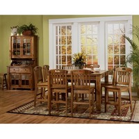 Sunny Designs Sedona Family Table In Rustic Oak