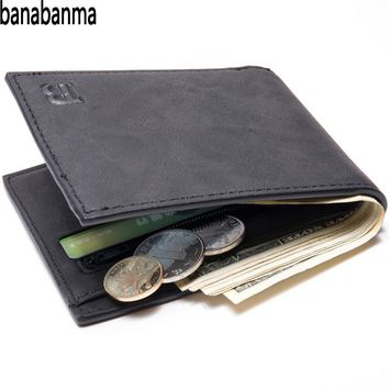 Banabanma Fashion 2018 Men Wallets Men Wallet with Coin Bag Zipper Small Money Purses New Design Dollar Slim Purse Money Clip 30