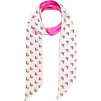 River Island Girls pink heart print scarf