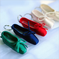 Five Color Pointe Shoes Key Chain