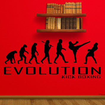Stickers Wall Art Wall Decals Home Decor Wall Stickers Decor Nursery Ideas Sticker Art Print Evolution Kick Boxing Muay Thai MMA Fight tr122