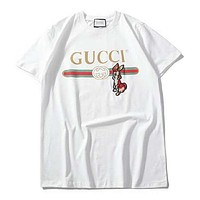 GUCCI Woman Men Fashion Embroidery Print Tunic Shirt Top Blouse