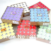 3.5 Hours multicolour smoke-free Tealight Candle Wedding Valentine's Day Candles 50pcs