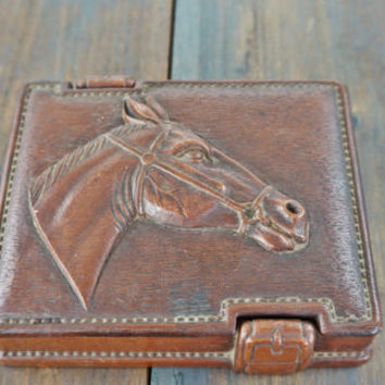 Vintage Syroco Horse Art Cigarette Box,Keepsake Box