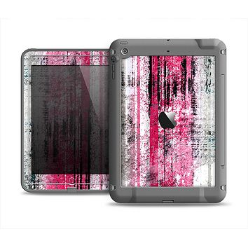 The Vintage Worn Pink Paint Apple iPad Air LifeProof Fre Case Skin Set