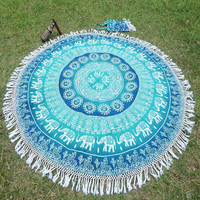 1pc Bohemian Indian Mandala Tapestry Wall Hanging Carpet Beach Towel Throw Tapestry Beach Yaga Bedspread Towel Blanket Rug