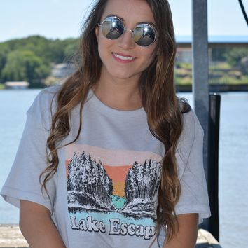 friday + saturday: lake escape t shirt