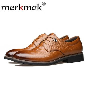 Men Oxfords British Style Casual Leather Shoe