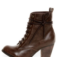 Chelsea Crew Detour Brown Lace-Up Ankle Booties - $77.00