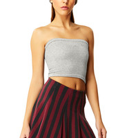 Stoned Gray Cotton Tube Top
