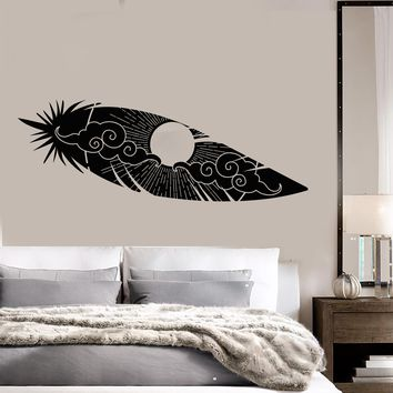 Vinyl Wall Decal Bird Feather Sun Sky Landscape Room Decoration Stickers (2750ig)