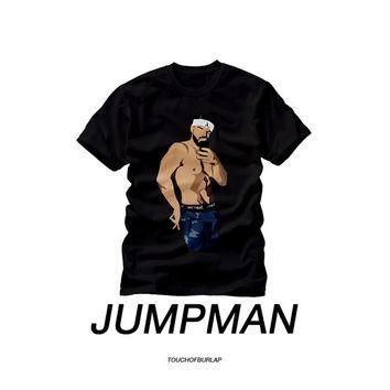 Drake Jumpman Shirt OVO Match Navy Jordan Sneaker Head Unisex Mens Women Black Crew ne