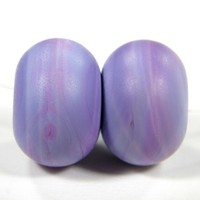 Lampwork Beads EDP Premium Purple Handmade Glass Etched Opaque 254e | Covergirlbeads - Jewelry on ArtFire