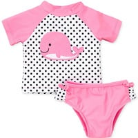 Little Me Baby Girls' 2-Piece Whale Swimsuit
