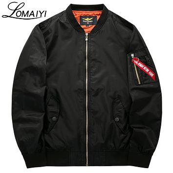 LOMAIYI S-8XL Male Female Bomber Jacket Men Plus Size Coat Spring Men's Flight Windbreaker Pilot Baseball Jackets,BM002