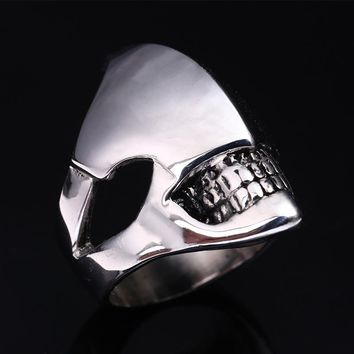 Trendy trinket Alien Predator skull Ring men Zinc Alloy Punk Men's rings teeth grillz warcraft Graduation anel Fashion Jewelry