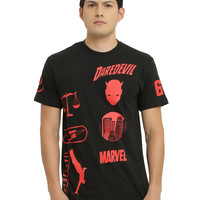 Marvel Daredevil Moto Print T-Shirt
