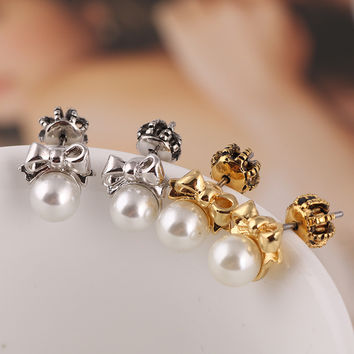 Accessory Simple Butterfly Pearls Earring Fashion Jewelry [6573072967]
