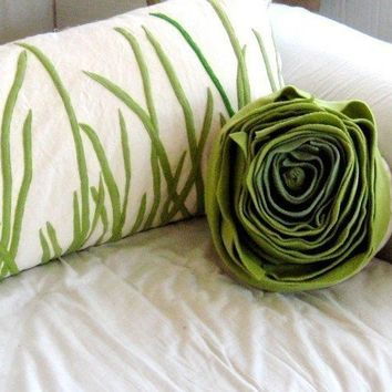 tall grass pillow by pillowhappy on Etsy