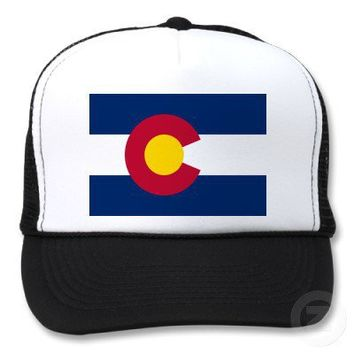 1e916979c05 Colorado Flag Trucker Hat from Zazzle.com