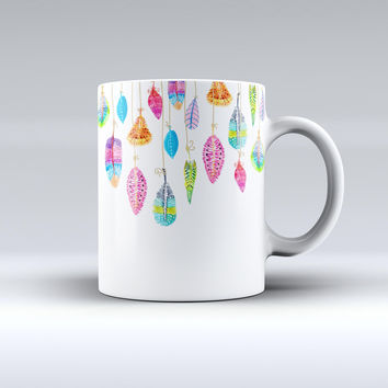 The Hanging Feathers ink-Fuzed Ceramic Coffee Mug