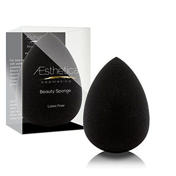 Aesthetica Cosmetics Beauty Sponge Blender - Latex Free and Vegan Makeup Sponge