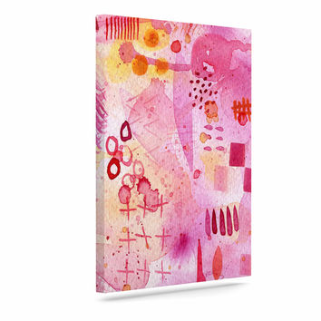"Nic Squirrell ""Sweet Dreams"" Pink Abstract Canvas Art"