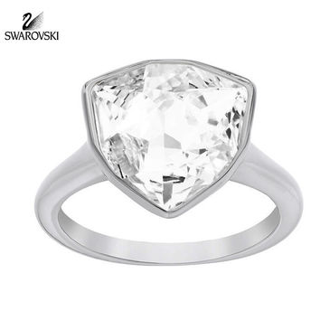 Swarovski Clear Crystal BRIEF Ring Rhodium Plated
