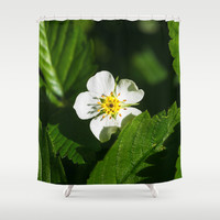 Wild Strawberry Flower Shower Curtain by Digital2real