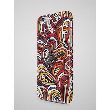 Colorful Waves & Ropes Pattern iPhone 8 Cover
