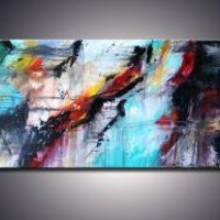 ONE LAST TEAR 60x24 x15 ORIGINAL ABSTRACT KNIFE by adrianaoancia