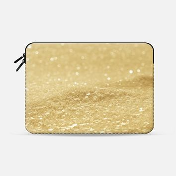 "Glitter Gold Macbook Pro 13"" sleeve by Alice Gosling 