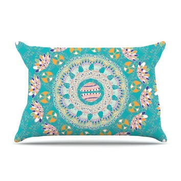"Miranda Mol ""Luscious"" Blue Pink Pillow Sham"