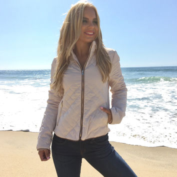 Quilted Warmth Jacket In Cream