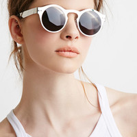 Metallic Frame Round Sunglasses