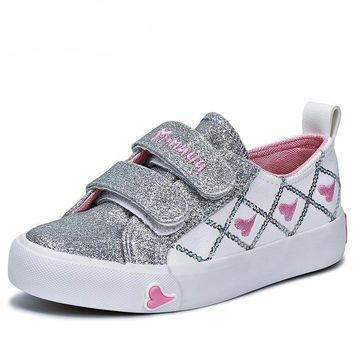 Girls Glitter Hearts Casual Shoes