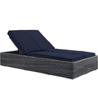Summon Outdoor Patio Chaise Sunbrella Navy