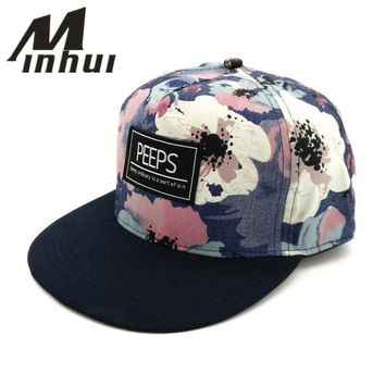 Trendy Winter Jacket Minhui 2015 New Fashion PEEPS Baseball Caps Snapback Flat Brim Hat Street Dance Gift Hip Hop Hats for Men and Women AT_92_12