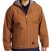 Key Apparel Men's Big-Tall Fire Resistant Insulated Hooded Duck Jacket, Carmel Brown, 3X-Large-Regular