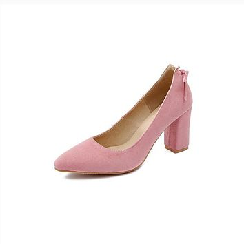 Women's Pumps Shallow Mouth Thick Heel High Heel