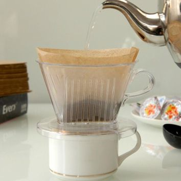 PP Resin Coffee Filter Cup Pour Over