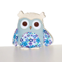 Handmade Owl Pillow, Monogrammed  Decorative Cuddly Toy