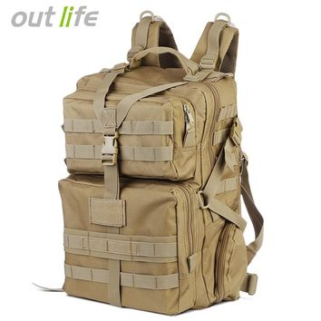 Outlife 45L Military Tactical Backpack or Rucksack for Outdoor Hiking Camping Hunting