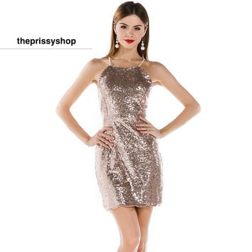 Sequin Mini Petal Dress
